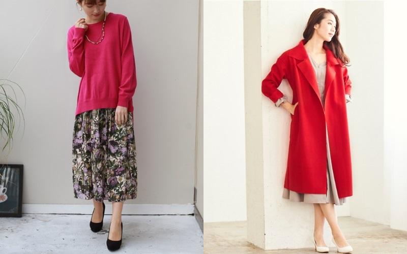 赤系カラー服で元気になれる♡40代女性の生き生き冬コーデ集