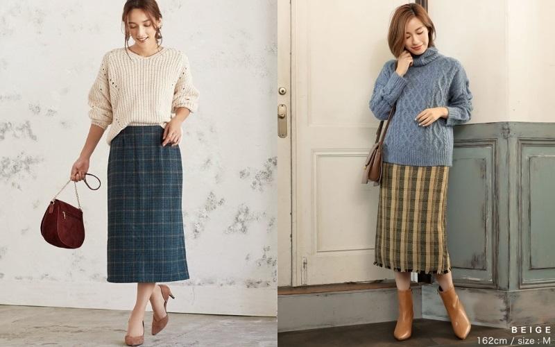 Iラインですらっと秋美人♡40代、本命「タイトスカート」はこう着ます☆