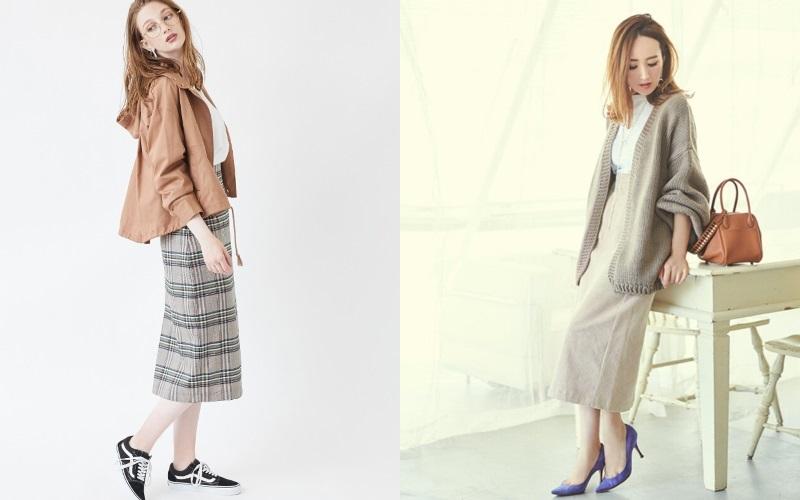 秋映えする「明るい色のスカート」☆きれいめに見えるアラフォーの着こなし方